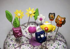 Customized Decorative Pincushion Pins by purelysimpledesigns