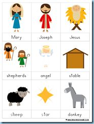 Preschool nativity printable pack. Free. Rush isn't quite ready for these yet... wonder if I can remember to print them next year?