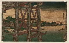 東都名所 両国之宵月 Evening Moon at Ryôgoku Bridge,Museum of Fine Arts, Boston