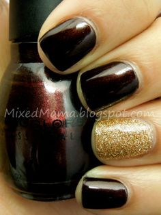 Sinful Colors Rich in Heart // and Milani's Gold Glitz
