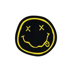 Nirvana Smiley Sticker   Hot Topic (3.26 AUD) ❤ liked on Polyvore featuring extra, filler and vintage stickers