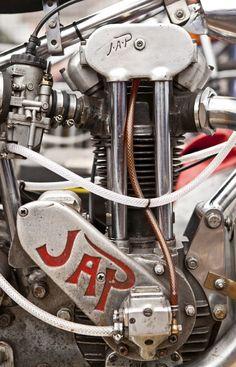 JAP Speedway Motorcycles, Speedway Racing, Racing Motorcycles, Vintage Cafe Racer, Vintage Bikes, Motorcycle Engine, Motorcycle Art, British Motorcycles, Vintage Motorcycles