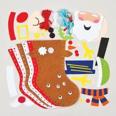 Kits de costura infantiles para hacer calcetines de Navidad de fieltro (pack de 3): Amazon.es: Juguetes y juegos