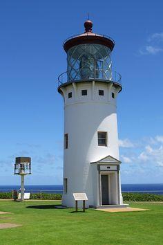 Kilauea Lighthouse in Kauai Lighthouse Lighting, Lighthouse Pictures, Kilauea Lighthouse, Lighthouse Keeper, Lighthouse Art, Point Light, Beacon Of Light, Kauai Hawaii, Beautiful Places To Visit