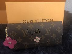 Emilie Wallet $129.00 precious girlie girl wallet!! My Bags, Louis Vuitton Monogram, Wallet, Pattern, Patterns, Handmade Purses, Diy Wallet, Purses, Louis Vuitton