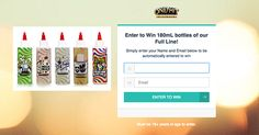 Enter to win 180mL bottles of each flavor by One Hit Wonder eLiquid