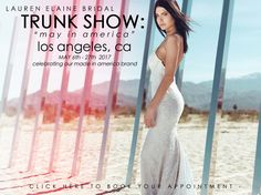 """The Ultimate Bridal Experience: Lauren Elaine Bridal is hosting a month long trunk show! We'll be hosting our Lauren Elaine Style House 'May in America' Trunk Show at our flagship salon May 6th - 27th! Book your appointment to fit our newest styles and classic favorites- including our """"Arabelle"""" mermaid pictured here. Visit our website to book an appointment! #LaurenElaineBridal"""