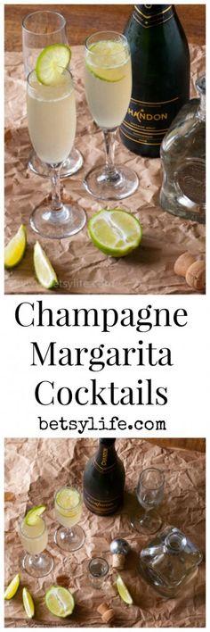 Champagne Margarita Cocktails | Betsylife.com