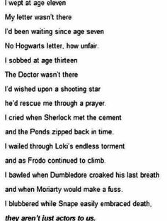 This poem made me cry just as hard as all of the things listed did.<<WHY GOD THE FEELS AMSNDBSNS