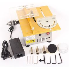 Multifunction Mini Table Saw Handmade Woodworking Bench Lathe Electric Polisher Grinder Cutting Saw Table Saw Workbench, Table Saw Jigs, Table Saw Stand, Diy Table Saw, Make A Table, Circular Saw Reviews, Best Circular Saw, Woodworking Saws, Woodworking Crafts