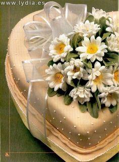 Foro de Manualidades Lydia :: Ver tema - Torta margaritas Gâteau marguerites Daysi cake Torta margher