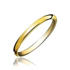 Bling Jewelry Gold Plated Tungsten Unisex Wedding Band Ring 2mm #weddingrings