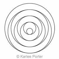 Digital Quilting Design Karlee's Circle 18 by Karlee Porter. Geometric Stencil, Geometric Drawing, Mandala Drawing, Mandala Art, Doodle Drawings, Easy Drawings, Circle Art, Circle Design, Cool Optical Illusions