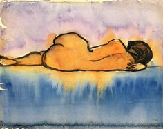 Reclining Female Nude ~ Emil Nolde