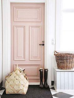 Interior Exterior, Home Interior, Interior Decorating, Interior Door, Decorating Ideas, Garage Exterior, Style At Home, Deco Pastel, Deco Rose