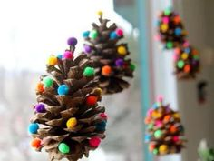 Arbolito piña con bolas de plastilina