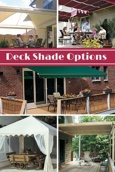 How to Shade Your Deck or Patio: Deck too hot? Learn about shade solutions for your deck or patio, from large canopies and awnings to DIY shade alternatives and inexpensive partial sun blockers. Keep your deck cooler and screen out harmful ultraviolet rays. Read more: http://www.familyhandyman.com/decks/how-to-shade-your-deck-or-patio/view-all