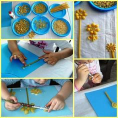 Lavoretti festa della mamma con la pasta - Lavoretti con la pasta Projects For Kids, Crafts For Kids, Diy Crafts, Rainbow Crafts, Kids Pages, Baby Shower, Collage, Mindfulness, Activities For Kids