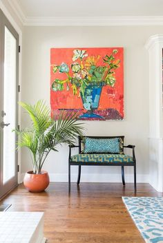 new house design Abstract Flowers, Abstract Art, Room Decor, Wall Decor, House Colors, Painting Inspiration, Decoration, Flower Art, Painting & Drawing