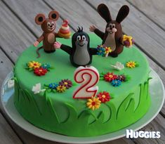 This is the cake I have made for my little daughter& Birthday. The Mole, Cupcakes, Fondant Cakes, Custom Cakes, Themed Cakes, 3rd Birthday, Food And Drink, My Favorite Things, Cooking