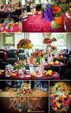 Centros de mesa, boda mexicana