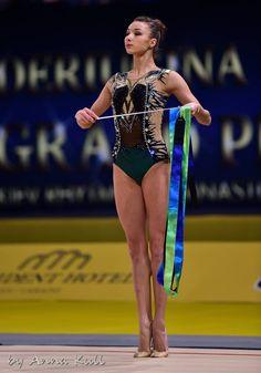 Viktoria MAZUR (Ukraine) ~ Ribbon @ Deriugina Cup - Grand Prix Kiev 2016 Anna Kull.