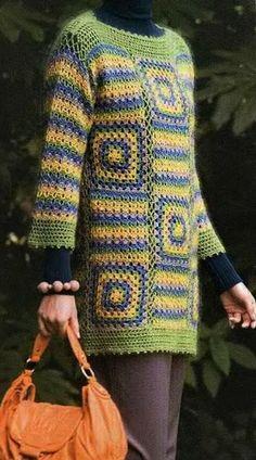 Crochet Sweater: Women Crochet Tunic Pattern - Simplicity for Winter