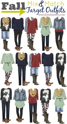 15 Fall Mix and Match Outfits from Target - Look put together without spending a ton.