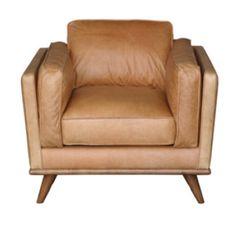 Freedom furniture - Dahlia armchair, Charme tan leather