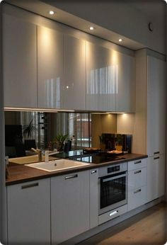 New Modern Kitchen Renovation Styles. Small luxury kitchen design with white wooden cabinet. New Modern Kitchen Renovation Styles. Small luxury kitchen design with white wooden cabinet.,Kitchen Design Do you have a small kitchen? Kitchen Room Design, Luxury Kitchen Design, Kitchen Cabinet Design, Home Decor Kitchen, Interior Design Kitchen, Kitchen Ideas, Kitchen Planning, Kitchen Inspiration, Design Inspiration