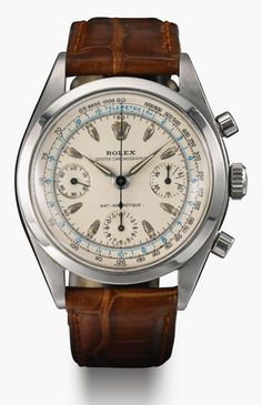 Rolex Ref. 6234 A gorgeous anti-magnetic Oyster Chronograph wristwatch from 195 Popular Watches, Best Watches For Men, Amazing Watches, Luxury Watches For Men, Beautiful Watches, Cool Watches, Vintage Watches For Men, Wrist Watches, Elegant Watches