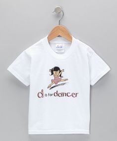 Love this White 'D Is for Dancer' Tee - Toddler & Girls on #zulily! #zulilyfinds