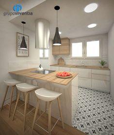 Proyecto de reforma de cocina en Travessera de les Corts (Barcelona) - Grupo Inventia