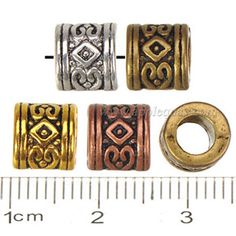 Zinc Alloy Large Hole Beads,Plated,Cadmium And Lead Free,Various Color For Choice,Approx 7.5*7mm,Hole:Approx 4.5mm,Sold By Bags,No 000997