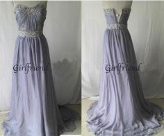 Attractive strapless chiffon prom dress from Girlfriend