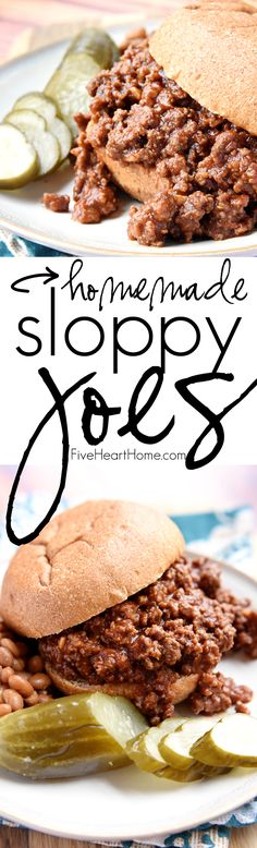 Homemade Sloppy Joes ~ ditch the store-bought can of sauce for these quick and…