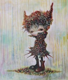 Japanese artist Yosuke Ueno creates worlds of a strange and surreal nature. Ueno wants to take the viewer on a magical ride, introducing unusual characters along the way with hidden symbolism to decode in her work,