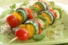 Brochetas verdura. La comida más sana del verano, con #dorsia