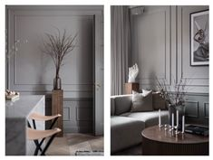 Inside a Refined Stockholm Apartment in Shades of Grey - Nordic Design Architect House, Architect Design, Stockholm Apartment, Grey Cabinets, Parquet Flooring, Nordic Design, Built In Storage, Inspired Homes, Best Interior