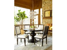 Universal Furniture Dining Room Table 52Rd Ped W/30LF Midnight Summer Hill 151482P - Naturwood Home Furnishings - Sacramento, CA