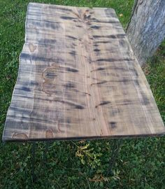 Reclaimed Ambrosia Maple Live Edge Console by KentuckyLiveEdge, $299.00
