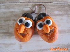 Halloween Earrings Pumpkin Heads Thanksgiving by SuePsales on Etsy, $6.00