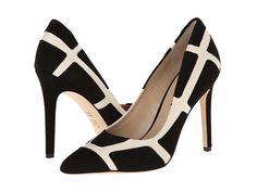 Bold windowpane check pumps from Via Spiga. #heels #shoes #shoelove