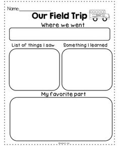 I love using this with my students after we finish with a Field Trip. We watch a slideshow of pictures from the Field Trip and do the reflection together. There are two different options, one with lines and one without. Credits: A+ Clip ArtLeebys Love LettersCopyright 2014 Elizabeth Hall All rights reserved by author.