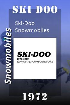 Ski Doo Snowmobiles, 1972 Ski-Doo Snowmobiles Service Manual Snowmobiles, Repair Manuals, Skiing, Ski