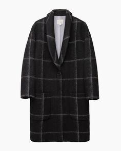 Band of Outsiders windowpane blanket wool shawl collar coat
