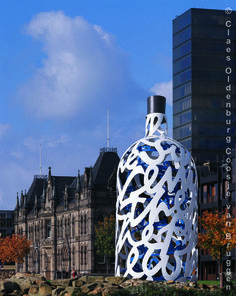 Bottle of Notes - Claes Oldenburg - Central Gardens, Middlesbrough, England