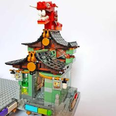 Lego Ninjago City, Lego City, Lego Mecha, Lego Room, Lego Projects, Lego Building, Lego Ideas, City Buildings, Legos