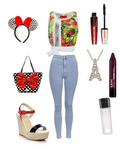"""Untitled #30"" by amandha88 on Polyvore featuring Clover Canyon, Topshop, Betsey Johnson, Christian Louboutin, Disney, NYX, L'Oréal Paris and MAC Cosmetics"