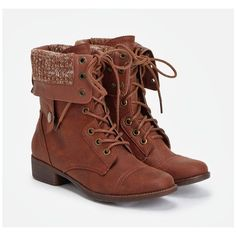 Justfab Booties Aysha ($43) ❤ liked on Polyvore featuring shoes, boots, ankle booties, brown, short brown boots, low heel booties, platform bootie, platform booties and brown ankle booties